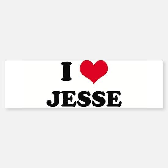 I HEART JESSE Bumper Bumper Bumper Sticker