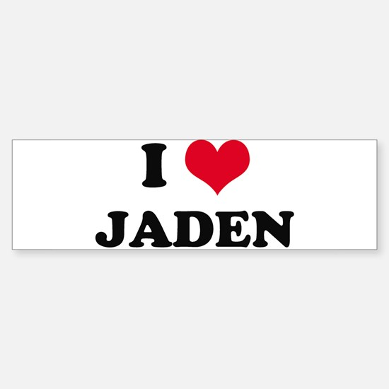 I HEART JADEN Bumper Bumper Bumper Sticker