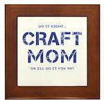 Craft Mom Framed Tile
