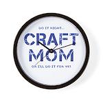Craft Mom Wall Clock