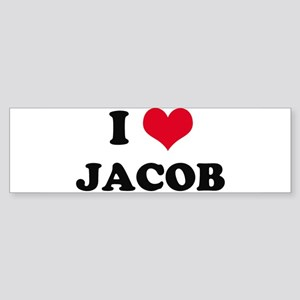 I HEART JACOB Bumper Sticker