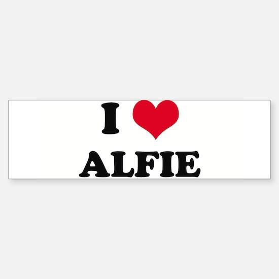 I HEART ALFIE Bumper Bumper Bumper Sticker