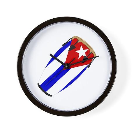 Conga Cuba Flag music Wall Clock