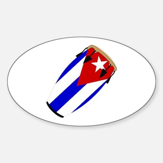 Conga Cuba Flag music Oval Decal