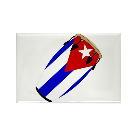Conga Cuba Flag music Rectangle Magnet (10 pack)