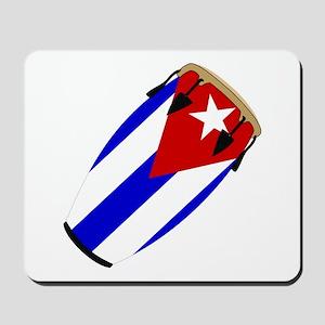 Conga Cuba Flag music Mousepad