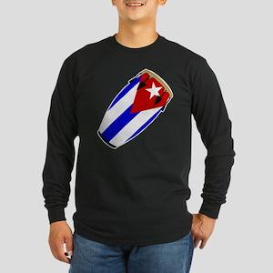 Conga Cuba Flag music Long Sleeve Dark T-Shirt