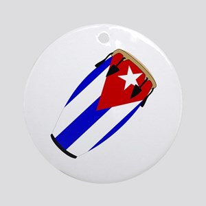 Conga Cuba Flag music Ornament (Round)