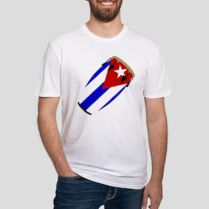 Conga Cuba Flag music Fitted T-Shirt