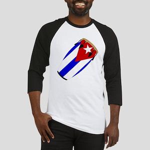 Conga Cuba Flag music Baseball Jersey