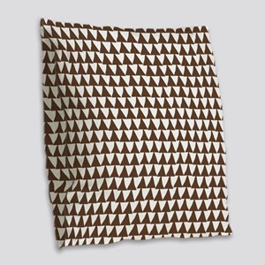 Triangle Arrows Pattern: Choco Burlap Throw Pillow
