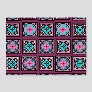 Pink Quill Plum 5'x7'Area Rug