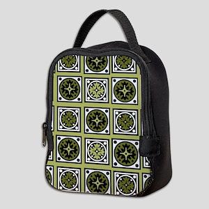 Retro Green Style Neoprene Lunch Bag