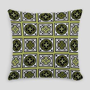 Retro Green Style Everyday Pillow