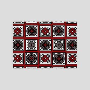 Modern Deco Tiles 5'x7'Area Rug