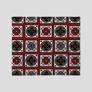 Modern Deco Tiles Throw Blanket