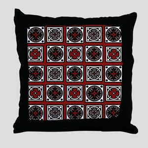 Modern Deco Tiles Throw Pillow