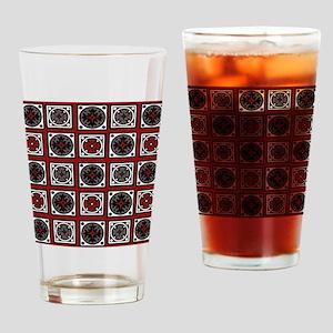 Modern Deco Tiles Drinking Glass