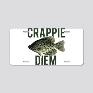 Crappie Diem Aluminum License Plate