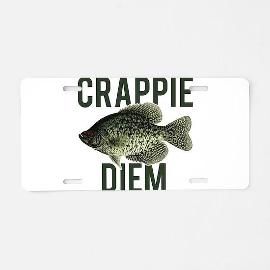 Crappie Diem Aluminum License Plate
