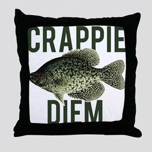 Crappie Diem Throw Pillow