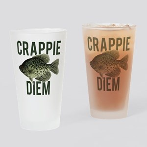 Crappie Diem Drinking Glass