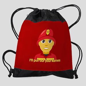 Emoji Put Out Your Flames Drawstring Bag