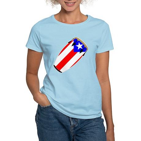 Conga Puerto Rico Flag Women's Light T-Shirt