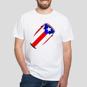Conga Puerto Rico Flag White T-Shirt