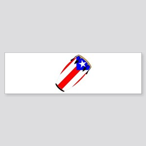 Conga Puerto Rico Flag Bumper Sticker