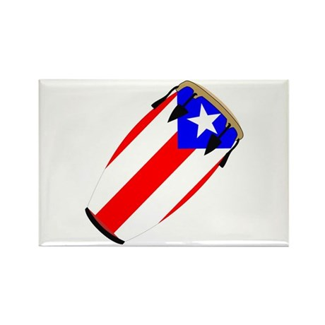 Conga Puerto Rico Flag Rectangle Magnet (10 pack)