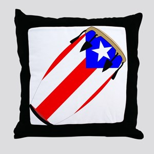 Conga Puerto Rico Flag Throw Pillow