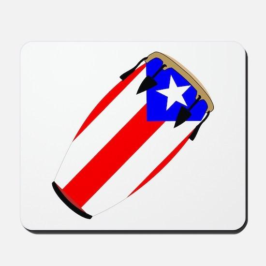 Conga Puerto Rico Flag Mousepad