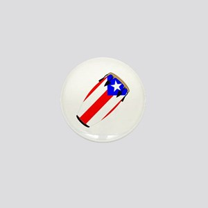 Conga Puerto Rico Flag Mini Button