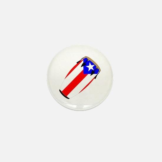 Conga Puerto Rico Flag Mini Button