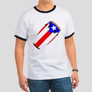 Conga Puerto Rico Flag Ringer T