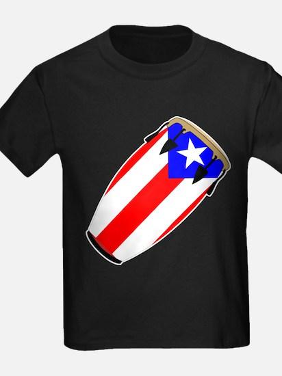 Conga Puerto Rico Flag T