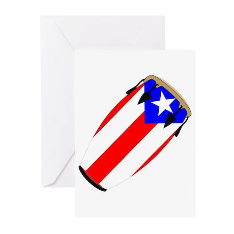Conga Puerto Rico Flag Greeting Cards (Pk of 20)