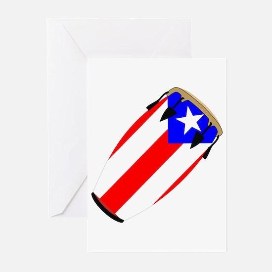 Conga Puerto Rico Flag Greeting Cards (Pk of 10)