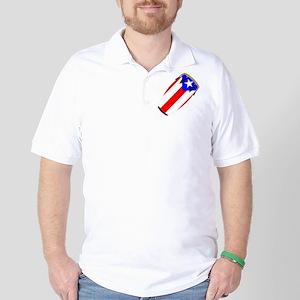 Conga Puerto Rico Flag Golf Shirt