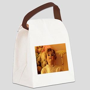 antique porcelain bisque doll loo Canvas Lunch Bag