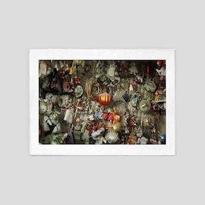 Christmas ornament and some dolls o 5'x7'Area Rug