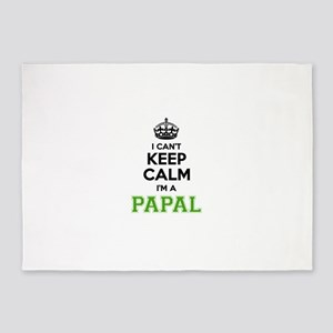 Papal I cant keeep calm 5'x7'Area Rug
