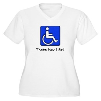 That's How I Roll Women's Plus Size V-Neck T-Shirt