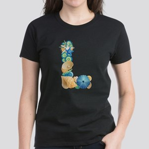 Beach Theme Initial L T-Shirt