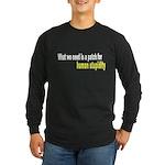 Patch Long Sleeve Dark T-Shirt