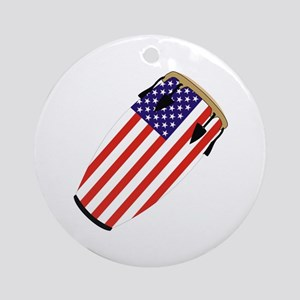 Conga USA Flag music Ornament (Round)