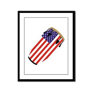 Conga USA Flag music Framed Panel Print