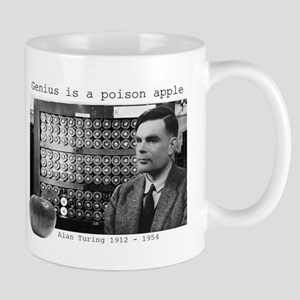 Alan Turing Genius Is A Poison Apple Mug Mugs