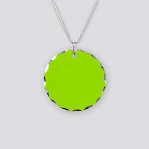Fluorescent Green Solid Colo Necklace Circle Charm